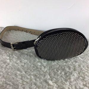 Steve Madden Bags - Steve Madden Studded Belt Bag Patent Leather DA01